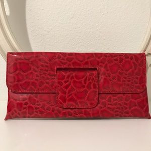 Handbags - Red Clutch